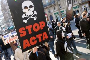 Protest protiv AKTA sporazuma u Beogradu