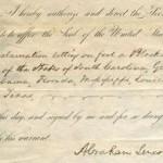 Prodaje se Linkolnova proklamacija iz 1861.