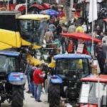 Traktorima i danas blokiran saobraćaj u Briselu