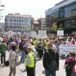 Oko 2.000 prosvjetara Kantona Sarajevo traži prava na ulici