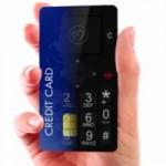 Minijaturni telefon veličine kreditne kartice staje u svaki novčanik