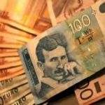 Dinar nastavlja pad u ponedjeljak, kurs 123,3