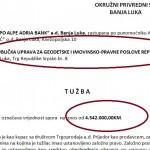EKSKLUZIVNO: Hypo banka tužila Geodetsku upravu RS