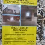 Ulice oblijepljene plakatima za prodaju kuće dužnika