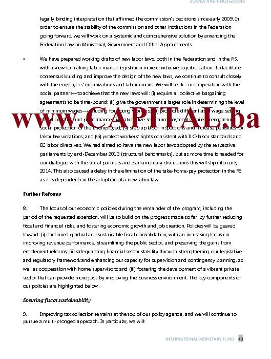 Dodatno pismo namjera MMF str7.