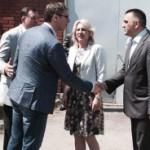 Dodik i Cvijanovićeva dočekali Vučića u Šamcu