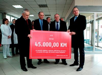 M:tel donirao 45.000 KM Univerzitetskoj bolnici Klinički centar Banjaluka