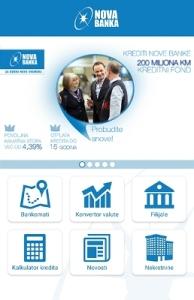 Nova banka pokrenula mobilnu aplikaciju