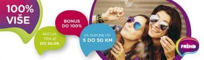 Poklon bonus za dopune od pet do 50 KM
