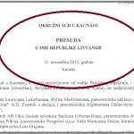 """Ekskluzivno: Presuda suda iz Litvanije kojom je odbijena tužba FG """"Birač"""""""