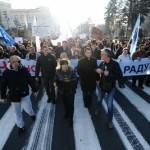 Počeo protest Saveza sindikata Srpske