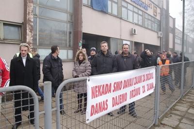 """Radnici """"Dalekovoda"""" stupili u štrajk"""