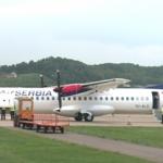 Ekskluzivno: Pukla guma na avionu prilikom slijetanja sa banjalučki Aerodrom