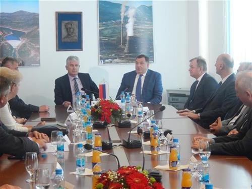 Dodik i Čović zadovoljni saradnjom elektroprivreda RS i HZHB