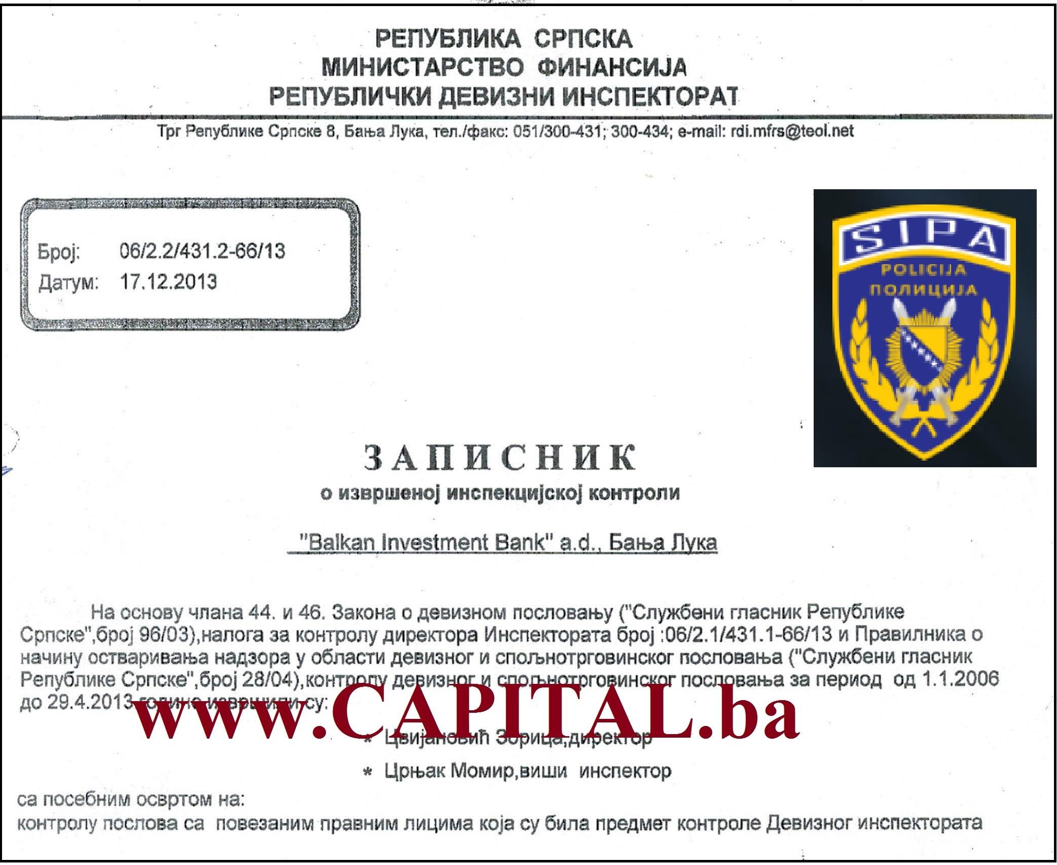 Ekskluzivno: SIPA otvorila istragu o Balkan Investment Banci