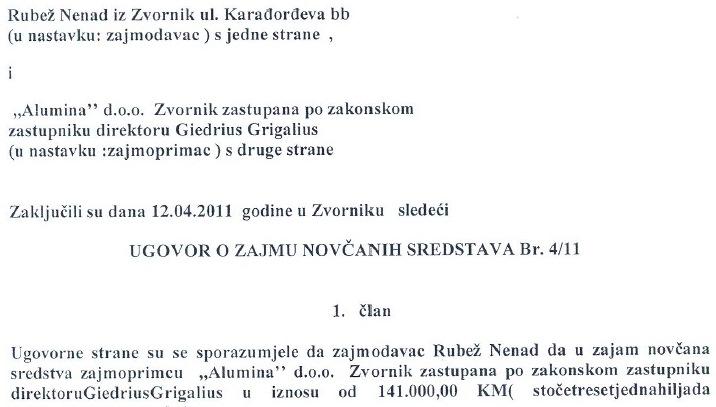 rubez ugovor