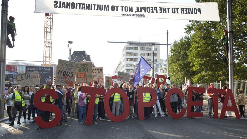 U Briselu protesti zbog Sporazuma o slobodnoj trgovini Evrope sa Kanadom i SAD