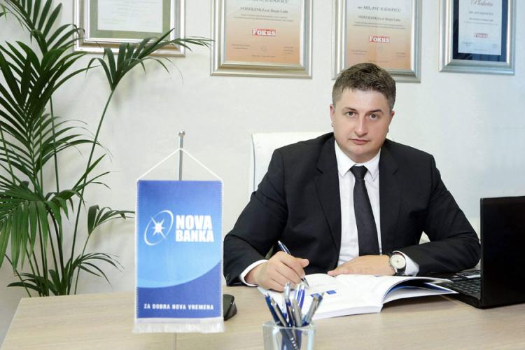 Milan Radović Broj klijenata Nove banke povećan
