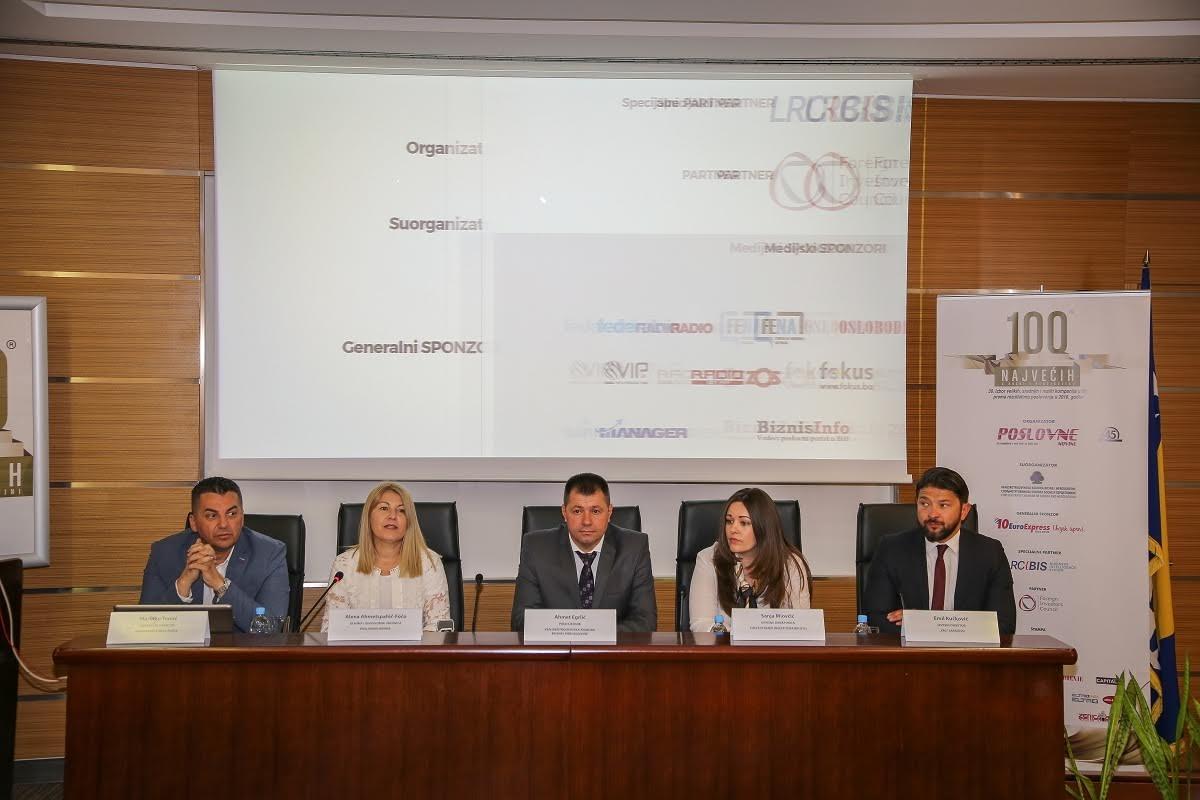 """Jubilarni 30. izbor """"100 najvećih u BiH"""" 20. septembra 2017. godine"""