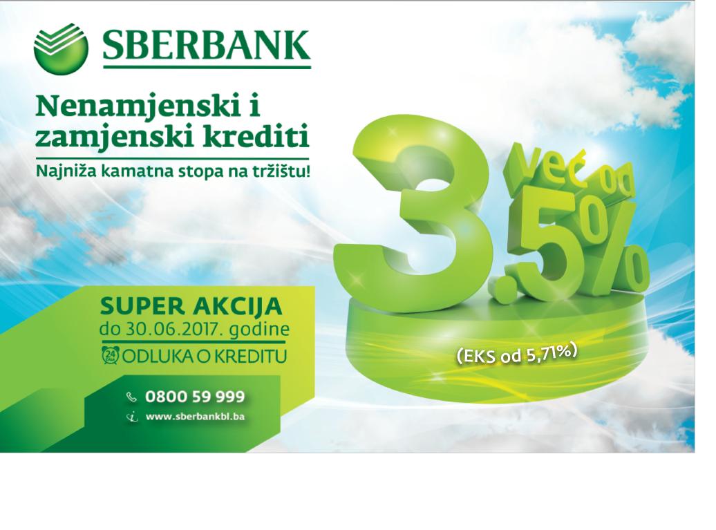 """Sberbank Banja Luka """"Super akcija"""" nenamjensko-zamjenskih kredita"""