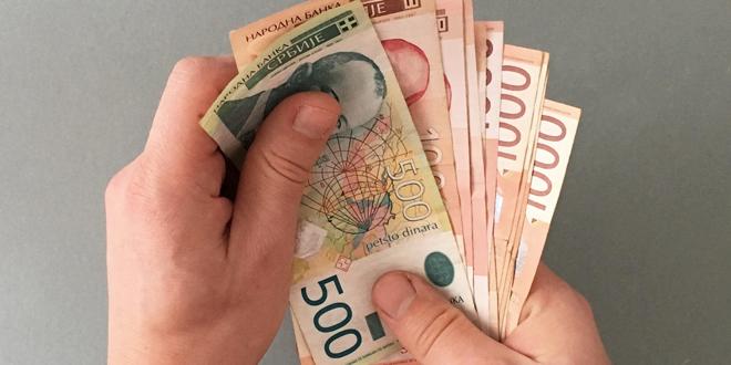 Dinar bez oscilacija, kurs u ponedjeljak 118,4066