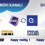 U Blicnetu Prva TV, O2 (B92), Nova TV i još novih TV kanala pred Novu godinu