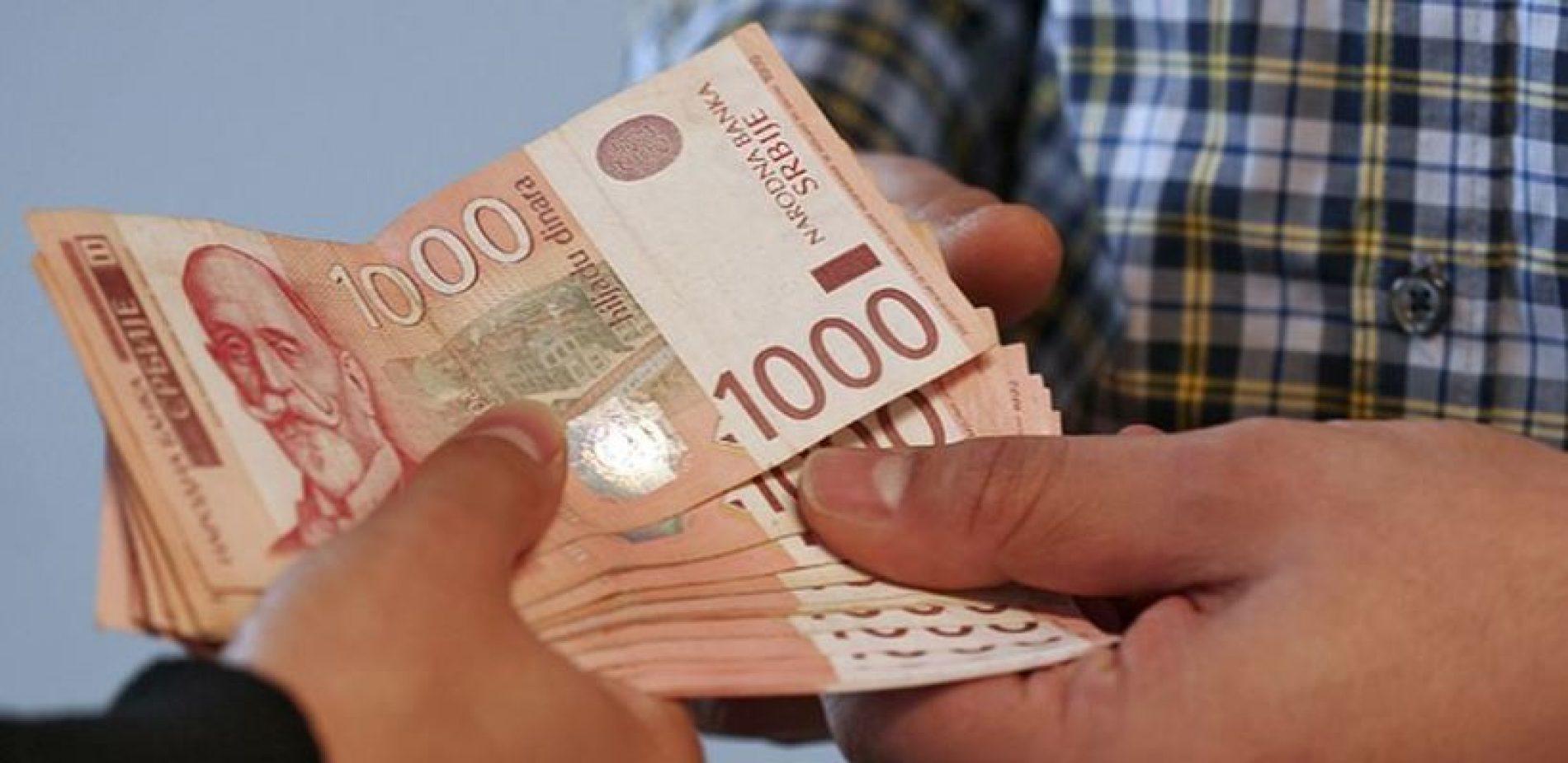 Prosječna neto zarada u Srbiji u januaru 54.521 dinara