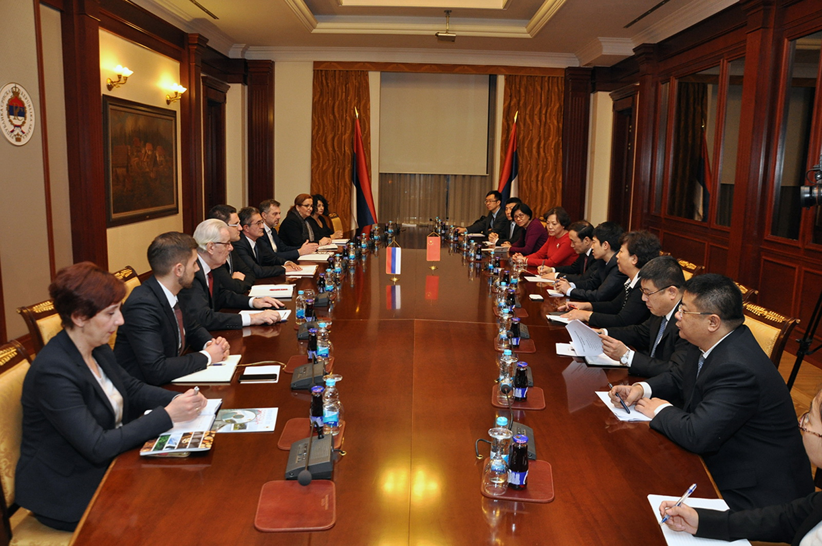 Delegacije Vlade RS i Tjenđina o uspostavljanju ekonomske poslovne zone