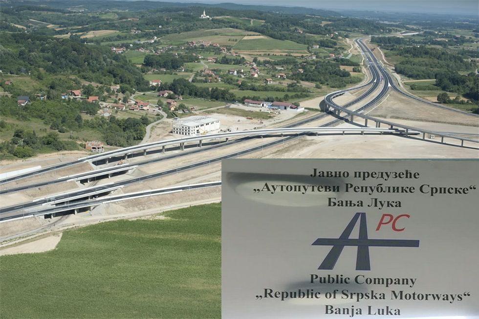 """""""Auto-putevima Republike Srpske"""" 70 miliona evra"""