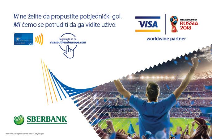 """Visa vas vodi na FIFA World Cup"" sa Sberbank Banja Luka Visa karticama"