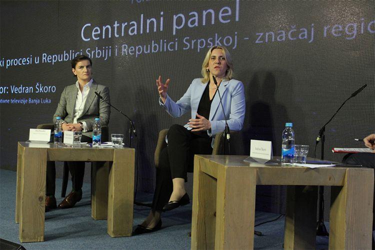 Cvijanović i Brnabić: Rast prihoda i investicija u RS i Srbiji