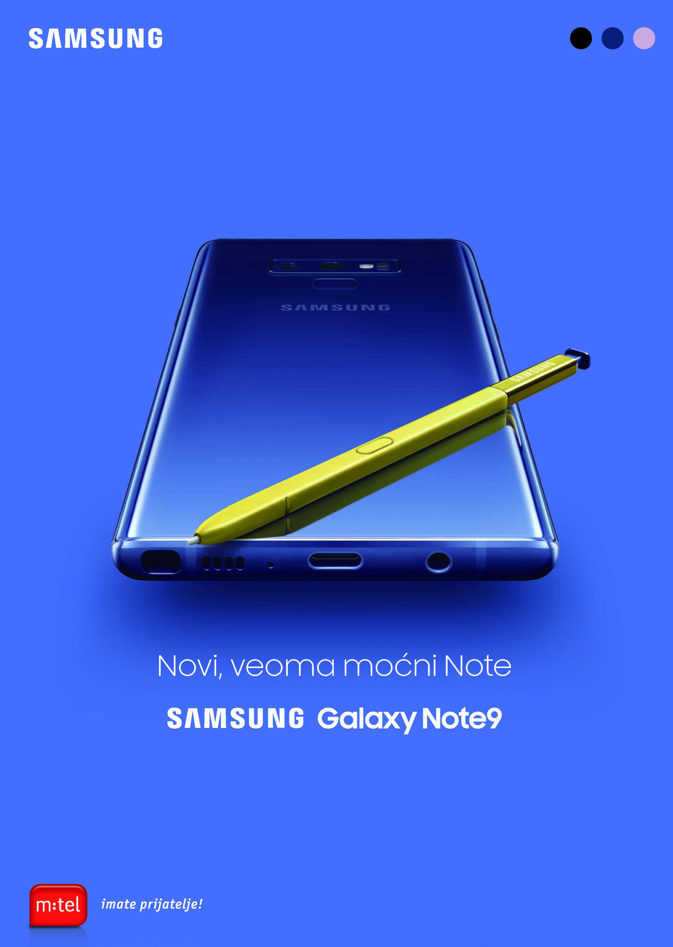 """M:tel nudi najnoviji """"Samsung Galaxy Note 9"""""""