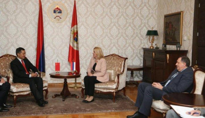 Cvijanović i ambasador Ping o mogućnostima privredne saradnje Srpske i Kine