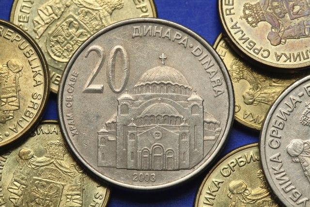 Dinar jači, kurs 117,85 za evro