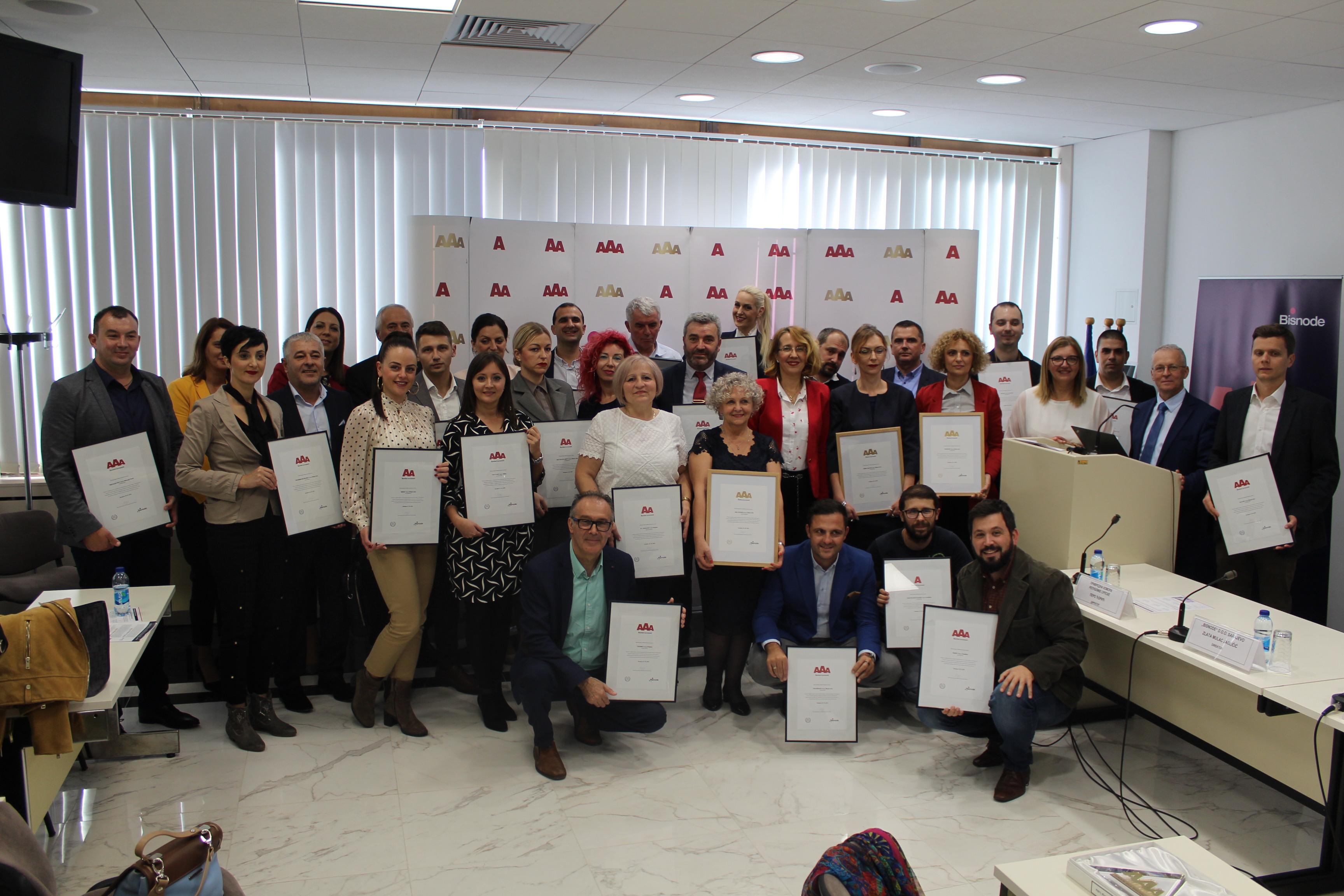 Četiri kompanije u Srpskoj dobile zlatni sertifikat bonitetne izvrsnosti