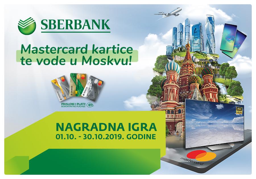 Uz Sberbank Banja Luka i Mastercard® osvojite putovanje u Moskvu