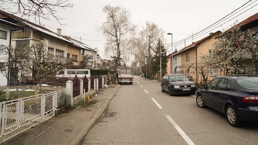 Ulica u Banjaluci u kojoj bi trebalo da se nalazi Gazservis d.o.o. / FOTO: GERILA